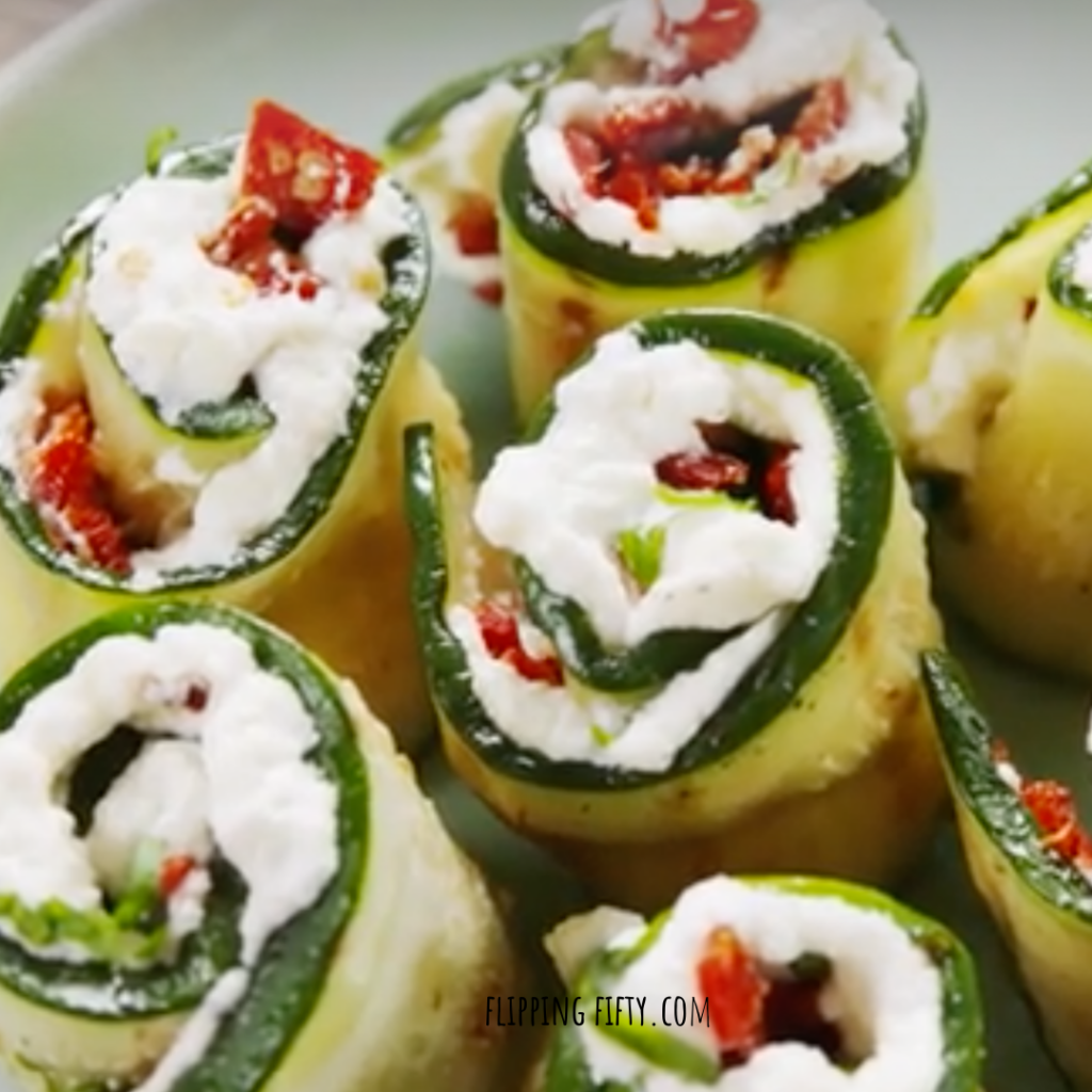 "Zucchini Salmon ""Sushi"" Rollups"