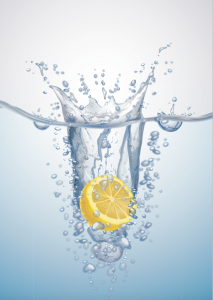 adding lemon to water can help to reduce water retention