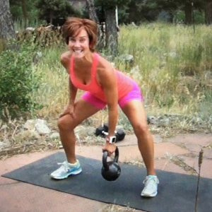 middle age women lifting weights