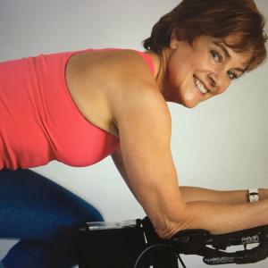 midlife woman biking