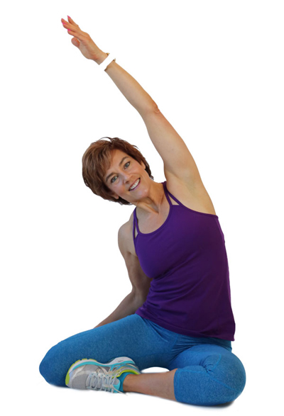 mid life woman yoga pose