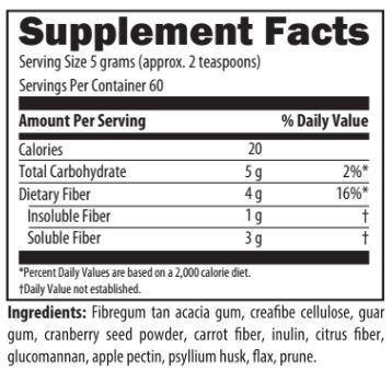 fiber boost nutrition information