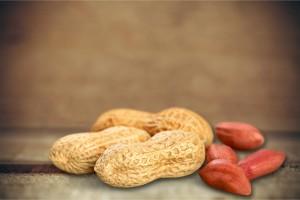 Brown peanuts.