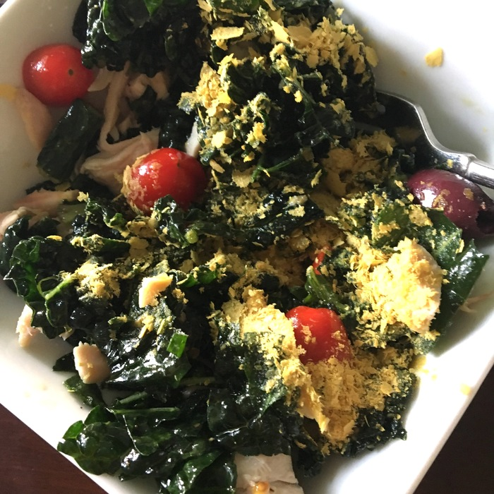 Easy and delicious recovery kale salad