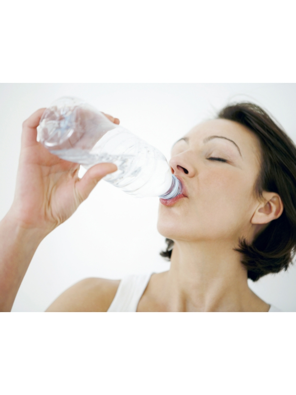 woman drink more water