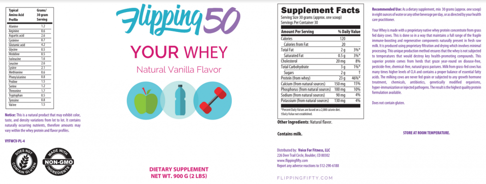 vanilla whey protein powder