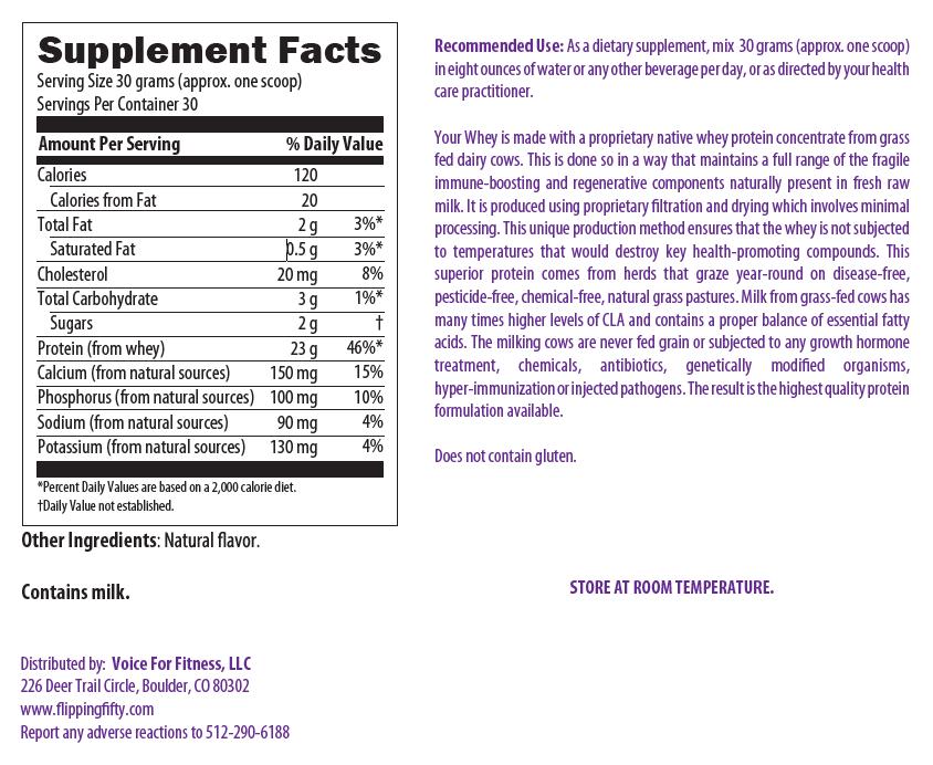 Your Whey Vanilla Protein Powder